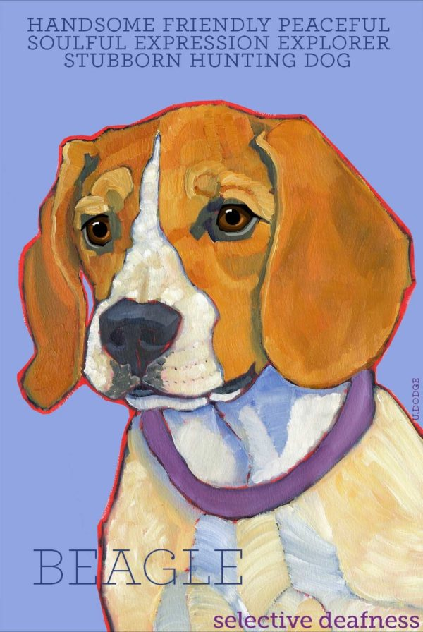 Beagle Fridge Magnet