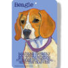 Beagle metal plaque
